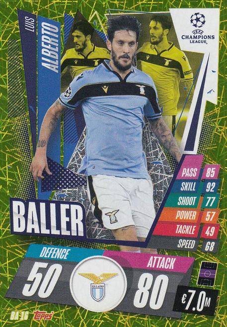 #BA16 Luis Alberto (SS Lazio) Match Attax EXTRA 2020/21 BALLER