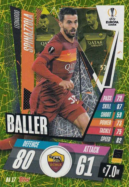 #BA17 Leonardo Spinazzola (AS Roma) Match Attax EXTRA 2020/21 BALLER