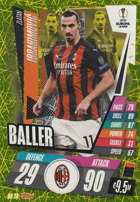 #BA18 Zlatan Ibrahimović (AC Milan) Match Attax EXTRA 2020/21 BALLER