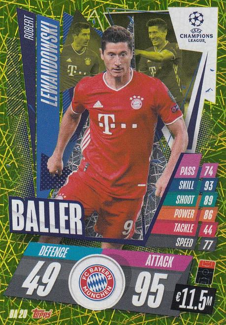 #BA20 Robert Lewandowski (FC Bayern München) Match Attax EXTRA 2020/21 BALLER