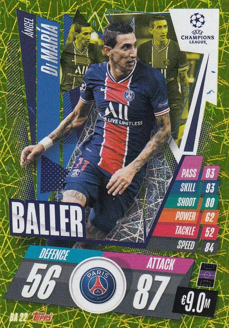 #BA22 Ángel Di María (Paris Saint-Germain) Match Attax EXTRA 2020/21 BALLER
