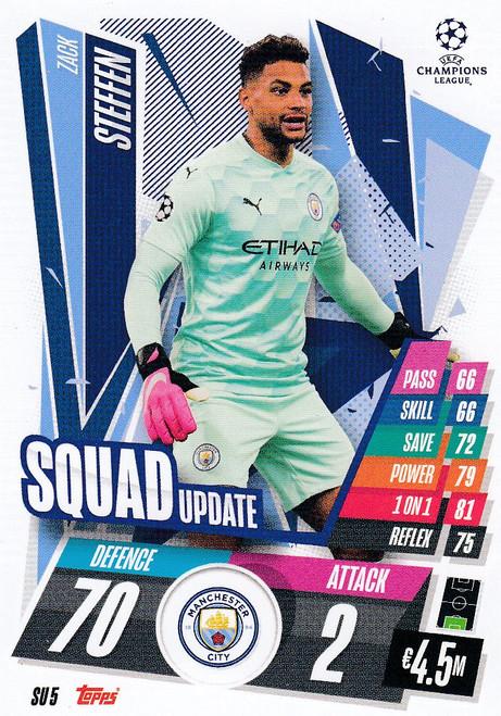 #SU5 Zack Steffen (Manchester City) Match Attax EXTRA 2020/21 SQUAD UPDATE