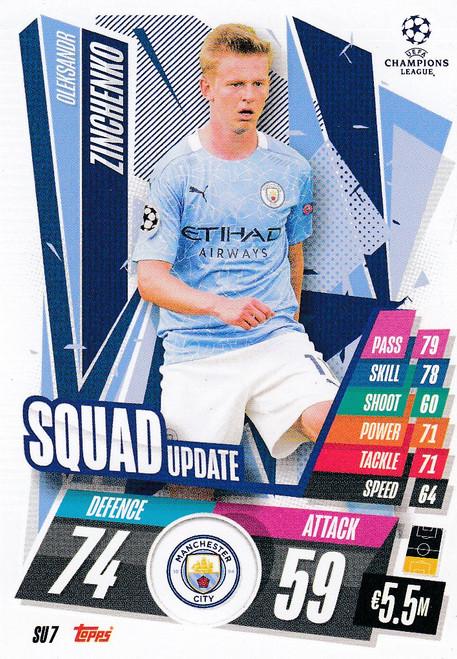 #SU7 Oleksandr Zinchenko (Manchester City) Match Attax EXTRA 2020/21 SQUAD UPDATE