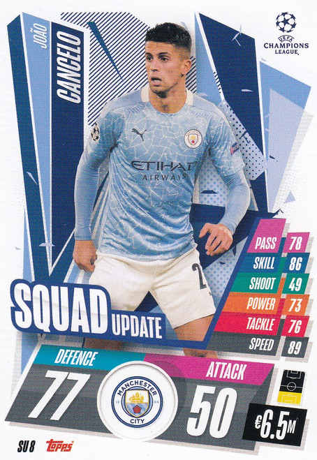 #SU8 João Cancelo (Manchester City) Match Attax EXTRA 2020/21 SQUAD UPDATE