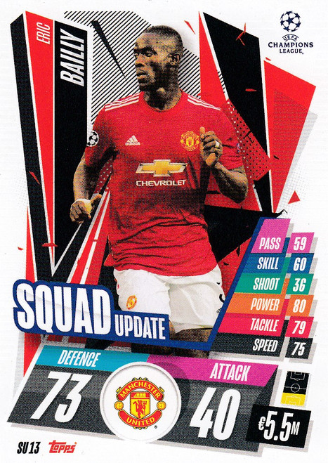#SU13 Eric Bailly (Manchester United) Match Attax EXTRA 2020/21 SQUAD UPDATE
