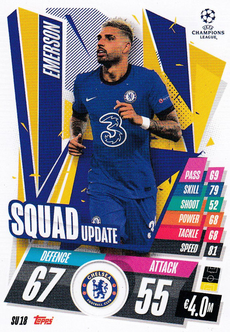 #SU18 Emerson (Chelsea) Match Attax EXTRA 2020/21 SQUAD UPDATE