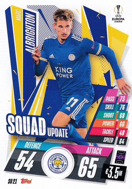 #SU21 Marc Albrighton (Leicester City) Match Attax EXTRA 2020/21 SQUAD UPDATE