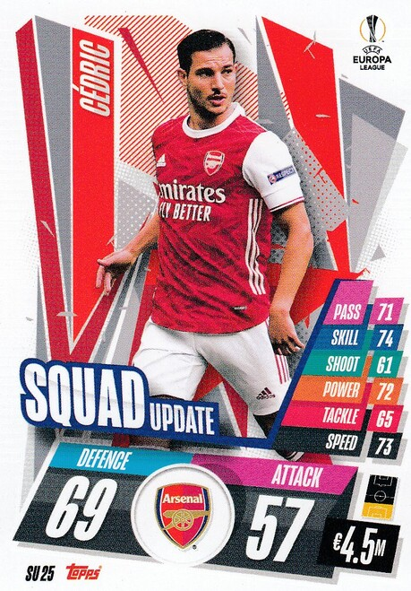 #SU25 Cédric (Arsenal) Match Attax EXTRA 2020/21 SQUAD UPDATE