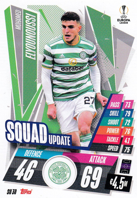 #SU30 Mohamed Elyounoussi (Celtic) Match Attax EXTRA 2020/21 SQUAD UPDATE