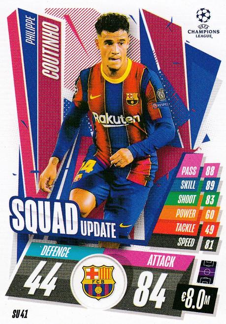 #SU41 Philippe Coutinho (FC Barcelona) Match Attax EXTRA 2020/21 SQUAD UPDATE