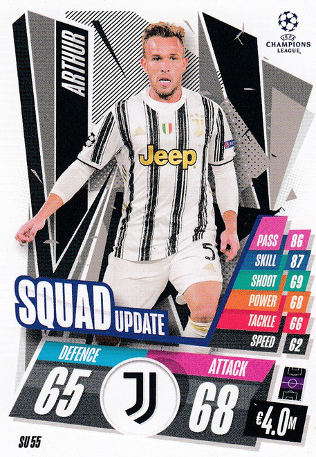 #SU55 Arthur (Juventus) Match Attax EXTRA 2020/21 SQUAD UPDATE