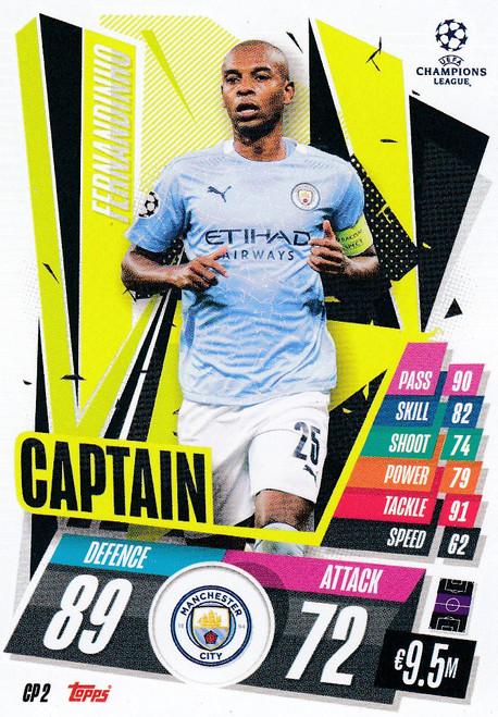 #CP2 Fernandinho (Manchester City) Match Attax EXTRA 2020/21 CAPTAIN