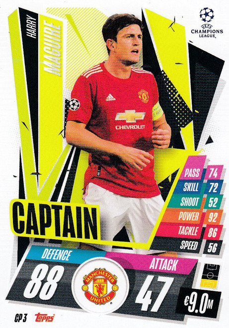 #CP3 Harry Maguire (Manchester United) Match Attax EXTRA 2020/21 CAPTAIN