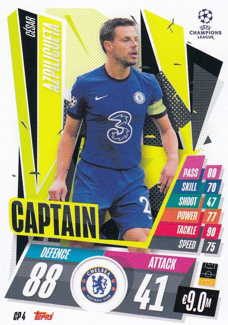 #CP4 César Azpilicueta (Chelsea) Match Attax EXTRA 2020/21 CAPTAIN