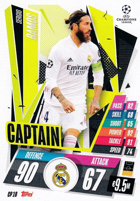 #CP10 Sergio Ramos (Real Madrid CF) Match Attax EXTRA 2020/21 CAPTAIN