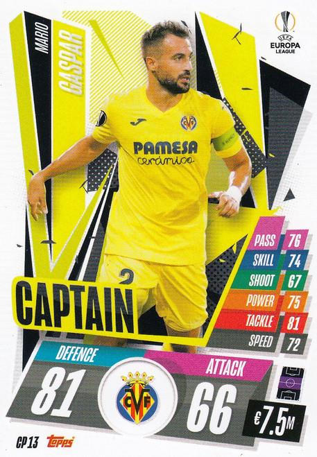 #CP13 Mario Gaspar (Villarreal CF) Match Attax EXTRA 2020/21 CAPTAIN