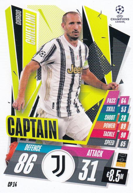 #CP14 Giorgio Chiellini (Juventus) Match Attax EXTRA 2020/21 CAPTAIN