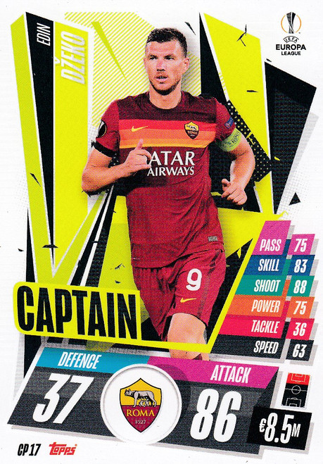 #CP17 Edin Dzeko (AS Roma) Match Attax EXTRA 2020/21 CAPTAIN