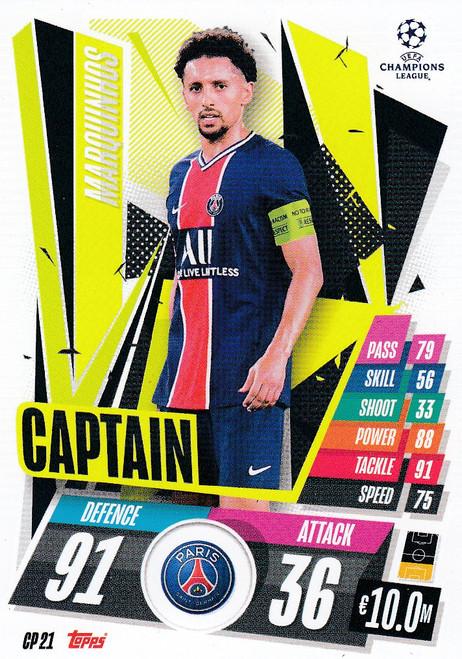 #CP21 Marquinhos (Paris Saint-Germain) Match Attax EXTRA 2020/21 CAPTAIN