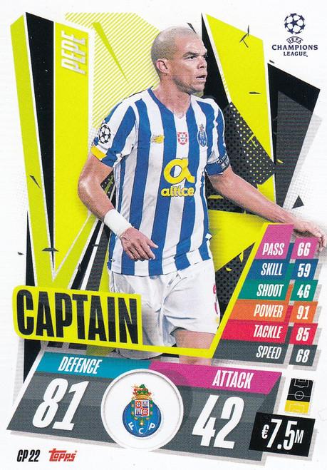 #CP22 Pepe (FC Porto) Match Attax EXTRA 2020/21 CAPTAIN