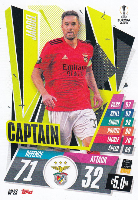 #CP23 Jardel (SL Benfica) Match Attax EXTRA 2020/21 CAPTAIN