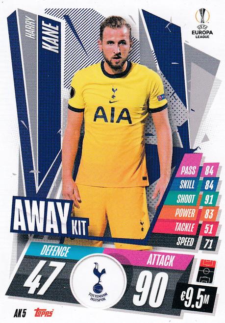 #AK5 Harry Kane (Tottenham Hotspur) Match Attax EXTRA 2020/21 AWAY KIT