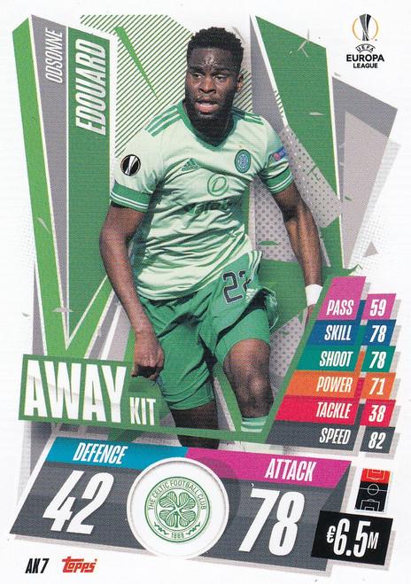 #AK7 Odsonne Edouard (Celtic) Match Attax EXTRA 2020/21 AWAY KIT