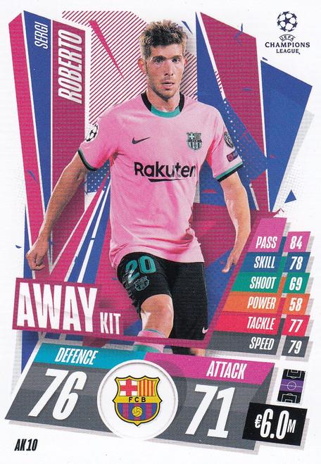 #AK10 Sergi Roberto (FC Barcelona) Match Attax EXTRA 2020/21 AWAY KIT