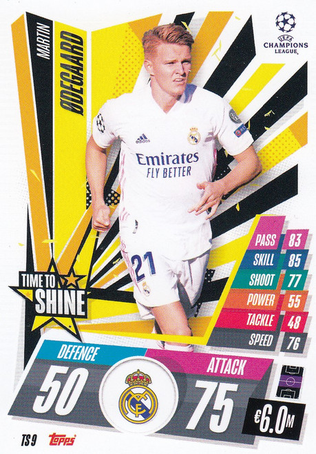 #TS9 Martin Odegaard (Real Madrid CF) Match Attax EXTRA 2020/21 TIME TO SHINE
