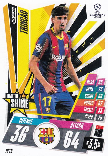 #TS10 Francisco Trincão (FC Barcelona) Match Attax EXTRA 2020/21 TIME TO SHINE