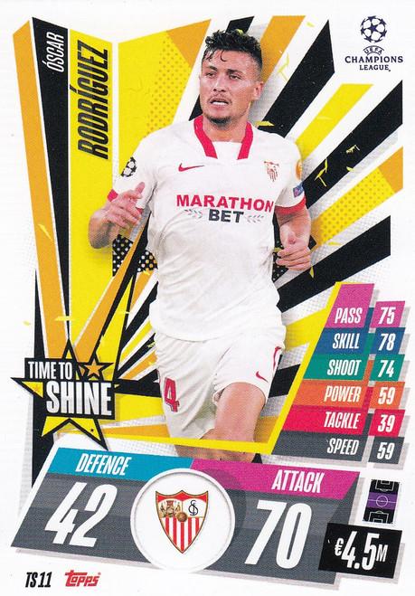 #TS11 Óscar Rodríguez (Sevilla FC) Match Attax EXTRA 2020/21 TIME TO SHINE