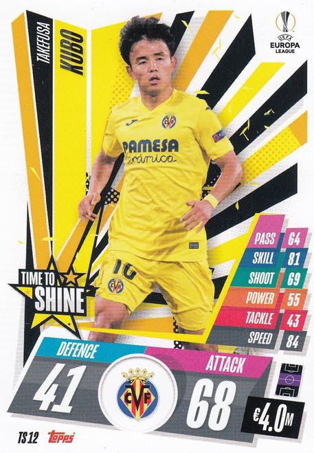 #TS12 Takefusa Kubo (Villarreal CF) Match Attax EXTRA 2020/21 TIME TO SHINE