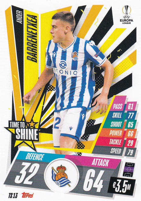 #TS13 Ander Barrenetxea (Real Sociedad de Fútbol) Match Attax EXTRA 2020/21 TIME TO SHINE