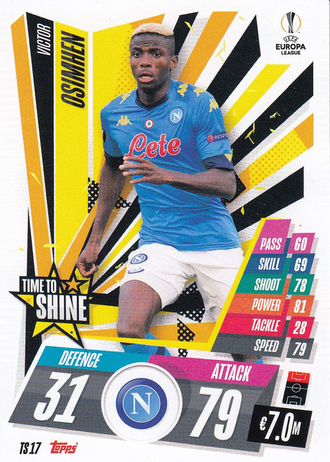 #TS17 Victor Osimhen (SSC Napoli) Match Attax EXTRA 2020/21 TIME TO SHINE
