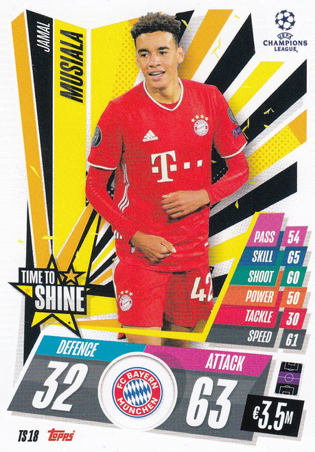 #TS18 Jamal Musiala (FC Bayern München) Match Attax EXTRA 2020/21 TIME TO SHINE