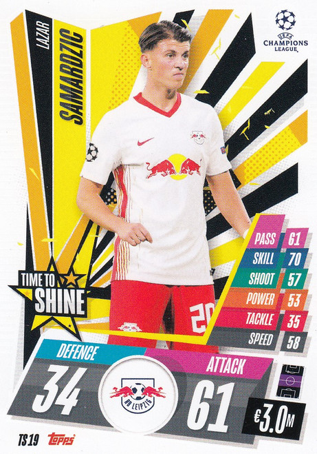 #TS19 Lazar Samardžić (RB Leipzig) Match Attax EXTRA 2020/21 TIME TO SHINE