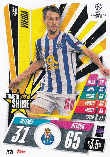 #TS21 Fábio Vieira (FC Porto) Match Attax EXTRA 2020/21 TIME TO SHINE