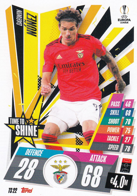 #TS22 Darwin Núñez (SL Benfica) Match Attax EXTRA 2020/21 TIME TO SHINE