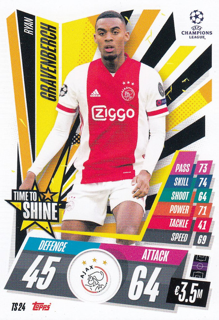 #TS24 Ryan Gravenberch (AFC Ajax) Match Attax EXTRA 2020/21 TIME TO SHINE