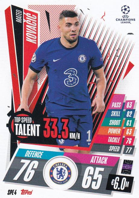 #SPE4 Mateo Kovačić (Chelsea) Match Attax EXTRA 2020/21 TOP SPEED TALENT