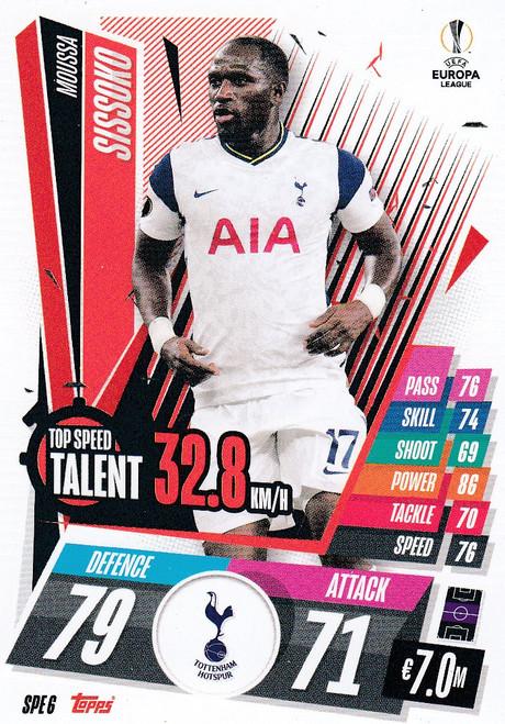 #SPE6 Moussa Sissoko (Tottenham Hotspur) Match Attax EXTRA 2020/21 TOP SPEED TALENT