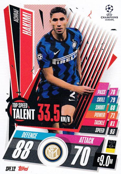 #SPE12 Achraf Hakimi (FC Internazionale Milano) Match Attax EXTRA 2020/21 TOP SPEED TALENT