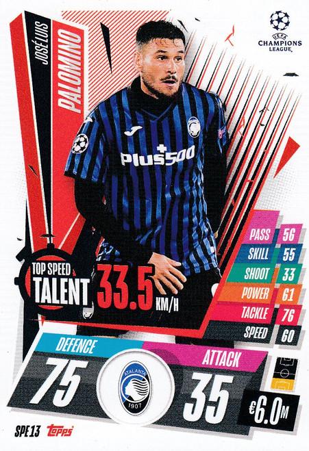 #SPE13 José Luis Palomino (Atalanta BC) Match Attax EXTRA 2020/21 TOP SPEED TALENT