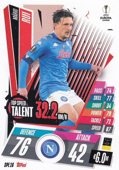 #SPE16 Mário Rui (SSC Napoli) Match Attax EXTRA 2020/21 TOP SPEED TALENT