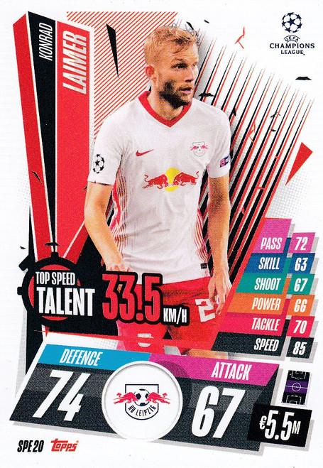 #SPE20 Konrad Laimer (RB Leipzig) Match Attax EXTRA 2020/21 TOP SPEED TALENT
