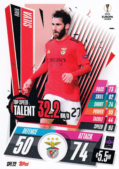 #SPE22 Rafa Silva (SL Benfica) Match Attax EXTRA 2020/21 TOP SPEED TALENT