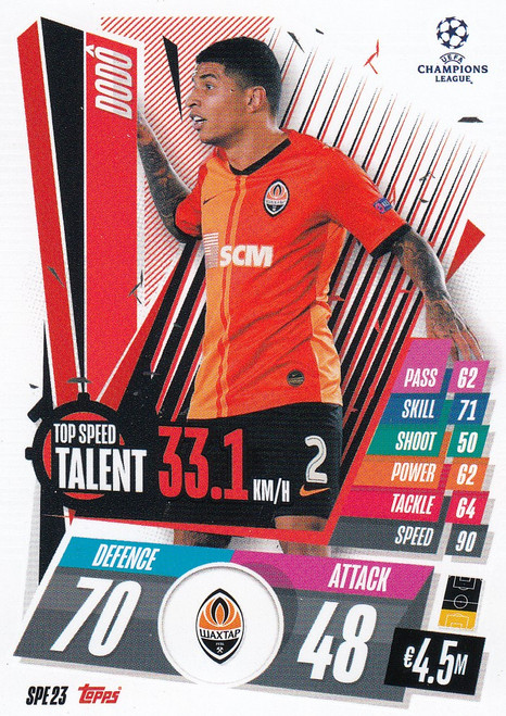 #SPE23 Dodo (FC Shakhtar Donetsk) Match Attax EXTRA 2020/21 TOP SPEED TALENT