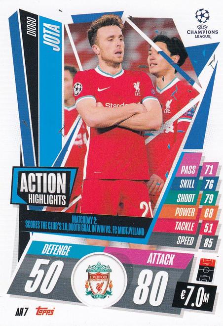 #AH7 Diogo Jota (Liverpool) Match Attax EXTRA 2020/21 ACTION HIGHLIGHTS