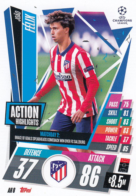 #AH8 Joao Félix (Atlético de Madrid) Match Attax EXTRA 2020/21 ACTION HIGHLIGHTS