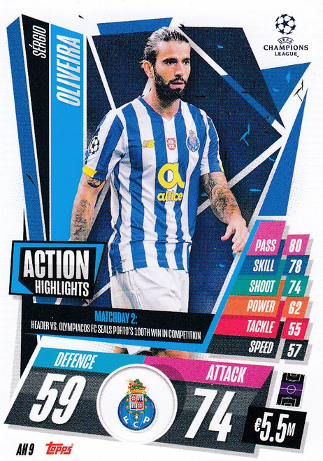 #AH9 Sérgio Oliveira (FC Porto) Match Attax EXTRA 2020/21 ACTION HIGHLIGHTS